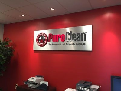 Dimensional Foam sign with acrylic letters for PuroClean