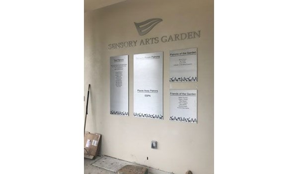 Metal letters and signage for Els Center for Autism