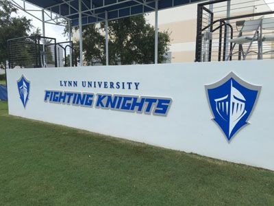 PVC letters with vinyl and PVC Logos for Lynn University