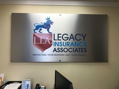 Brushed Aluminum Max Metal Sign for Legacy Associates