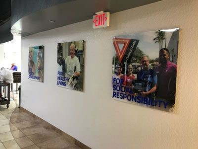 Acrylic Signage for the YMCA