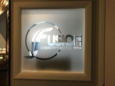 Etched Window Graphics for Fusion Chiropractic