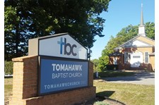 Reface for an older monument sign for Tomahawk Baptist Church on Hull St Rd in Richmond, VA