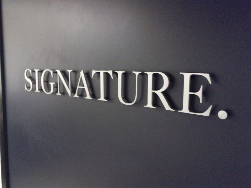 custom in house produced 3 dimensional lettering signsadd