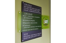 Acrylic wall signs