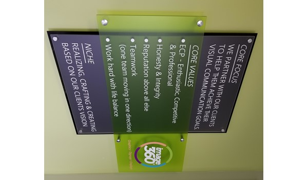 Interior Signage & Indoor Signs - Acrylic sign