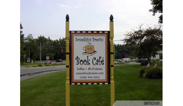 Cafe Post and Panel Sign