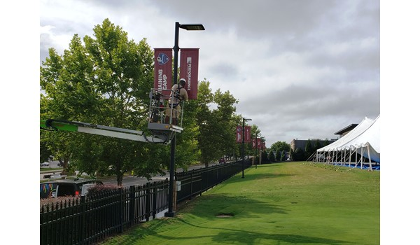 Exterior & Outdoor Signage, Pole Banners for Redskins
