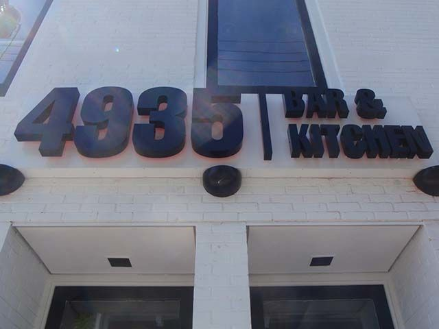 3 Dimensional Electrical Sign for 4935 Bar & Kitchen