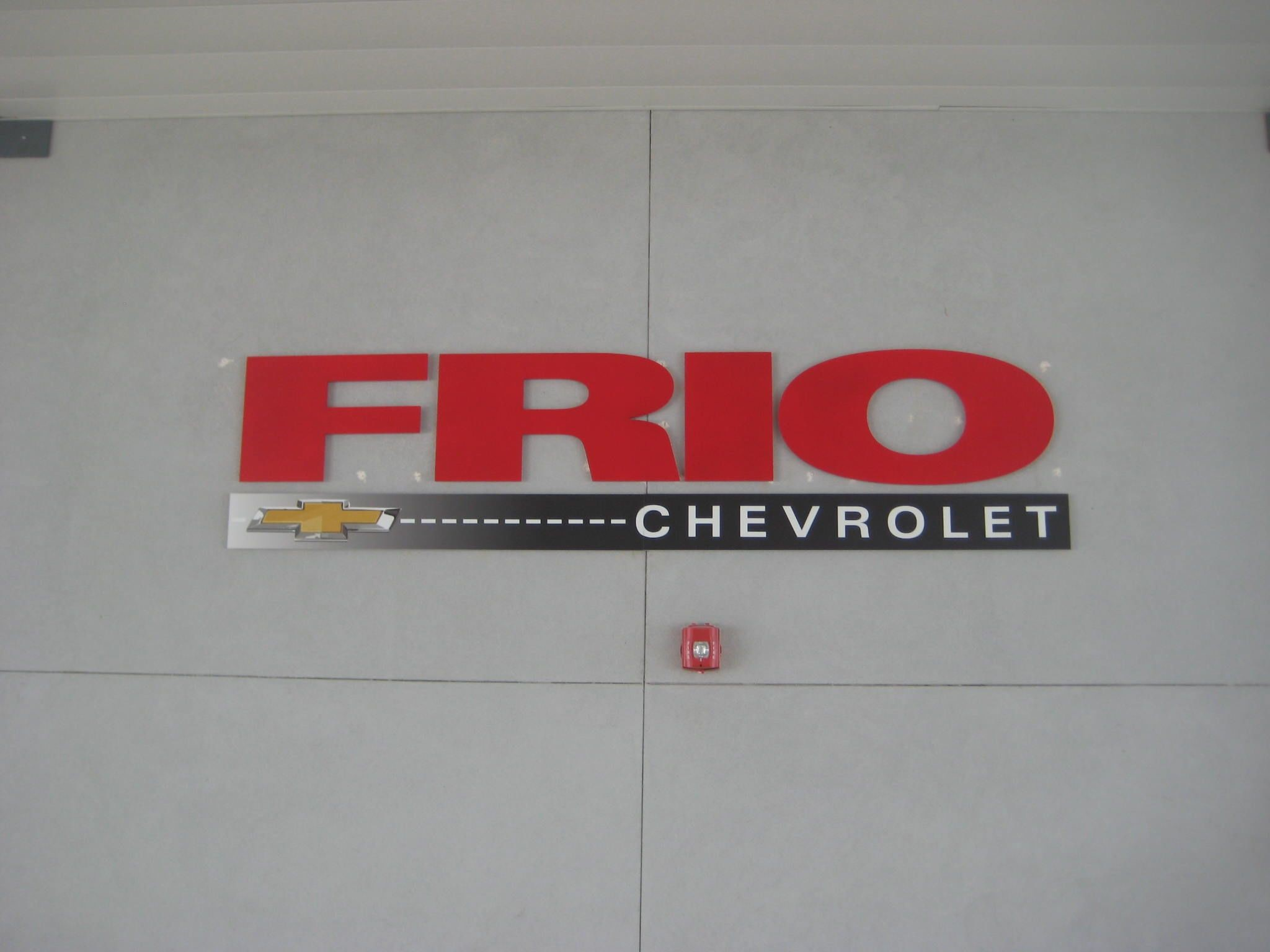 Frio Chevy dimensional letters in San Antonio, TX