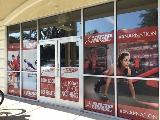 Window Graphic for Snap Fitness 24-7 in Tampa FL