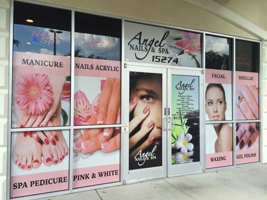 Storefront Window Graphics for Angel Nails and Spa in Tampa FL by Image360 Tampa Ybor City FL