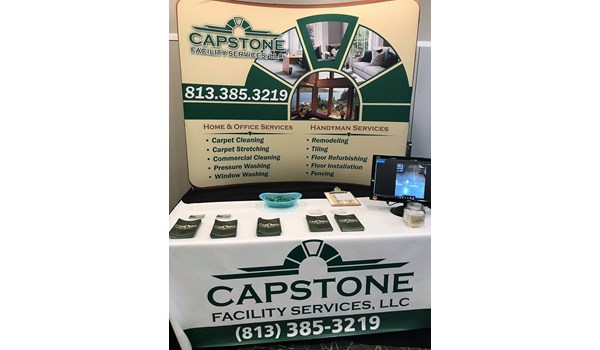 Capstone Facility Services Tradeshow Booth