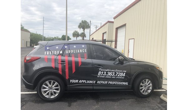 Freedom Appliance Vehicle Graphics and Lettering