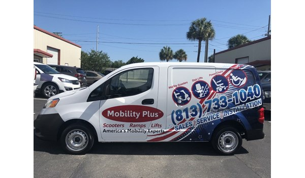 Mobility Plus Vehicle Graphics and Lettering