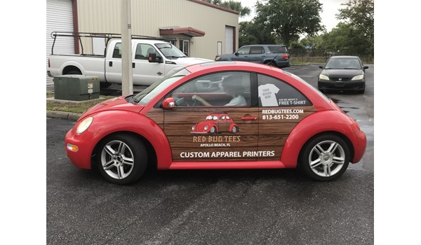 Red Bug Tees Vehicle Graphics and Lettering
